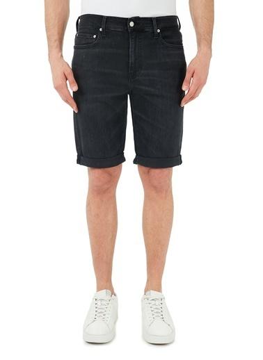 Calvin Klein  Slim Fit Pamuklu Kot Short Erkek Short J30J318034 1By Siyah